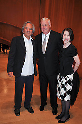 Left to right, ANISH KAPOOR, the U.S. Ambassador Louis B. Susman and his wife Marjorie attend the private view of Anish Kapoor's latest exhibition at the Royal Academy of Arts, Piccadilly, London on 22nd September 2009