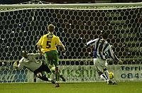 Photo: Aidan Ellis.<br /> Huddersfield Town v Swansea City. Coca Cola League 1. 30/12/2006.<br /> huddersfield's Pawel Abbott scores the third goal from the penalty spot
