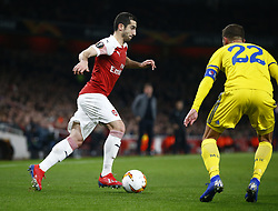 February 21, 2019 - London, Greater London, United Kingdom - Henrikh Mkhitaryan of Arsenal..during UEFA Europa League Round of 32 2nd Leg between Arsenal and of Bate Borisov at Emirates stadium , London, England on 20 Feb 2019. ..Credit Action Foto Sport. (Credit Image: © Action Foto Sport/NurPhoto via ZUMA Press)