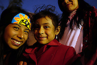 Children enjoy the traditional atmosphere of a Day of the Dead celebration in east Salinas.
