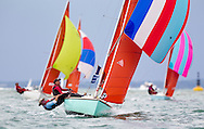 Aquabat leads the Squibs during racing at  Aberdeen Asset Management Cowes Week. <br /> Picture date Tuesday 5th August, 2014.<br /> Picture by Christopher Ison. Contact +447544 044177 chris@christopherison.com