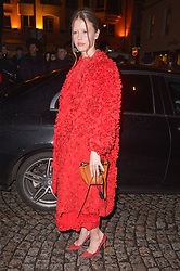 Mia Goth arriving at the Valentino Haute Couture Spring/Summer 2019-2020 show as part of Paris Fashion Week on January 23, 2019 in Paris, France. Photo by Julien Reynaud/APS-Medias/ABACAPRESS.COM
