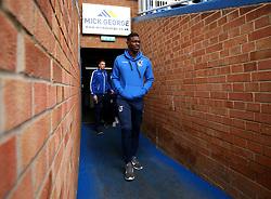 Bernard Mensah of Bristol Rovers arrives at The ABAX Stadium, for the Sky Bet League One fixture against Peterborough United - Mandatory by-line: Robbie Stephenson/JMP - 24/03/2018 - FOOTBALL - ABAX Stadium - Peterborough, England - Peterborough United v Bristol Rovers - Sky Bet League One