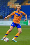 George Lapslie of Mansfield Town (32) during the The FA Cup match between Mansfield Town and Dagenham and Redbridge at the One Call Stadium, Mansfield, England on 29 November 2020.