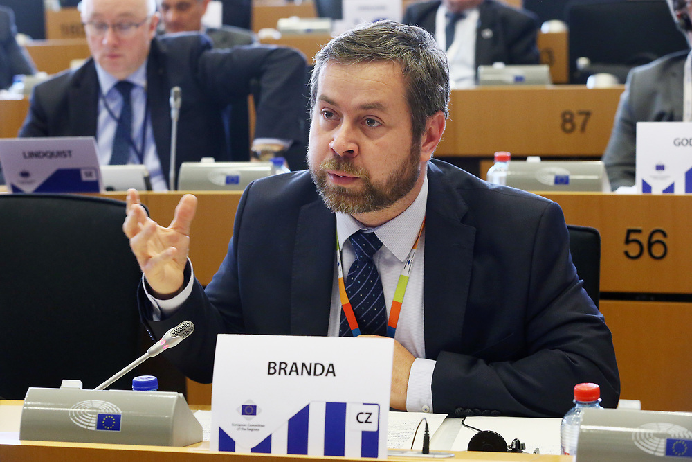 12 May 2017, 123rd Plenary Session of the European Committee of the Regions <br /> Belgium - Brussels - May 2017 <br /> <br /> Mr BRANDA Pavel, Vice-Mayor of Rádlo municipality, Czech Republic<br /> <br /> © European Union / Patrick Mascart