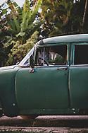 An old American car in Vinales, Cuba
