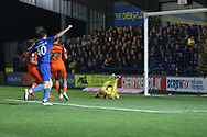 AFC Wimbledon midfielder Anthony Wordsworth (40) celebrating after AFC Wimbledon midfielder Mitchell (Mitch) Pinnock (11) scored during the EFL Sky Bet League 1 match between AFC Wimbledon and Southend United at the Cherry Red Records Stadium, Kingston, England on 24 November 2018.