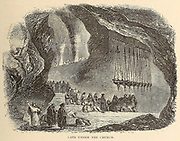 Cave under the Church of the Holy Sepulchre, Jerusalem From the book 'Those holy fields : Palestine, illustrated by pen and pencil' by Manning, Samuel, 1822-1881; Religious Tract Society (Great Britain) Published in 1874