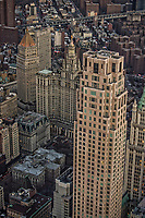 Four Seasons Hotel NY (right) & David N. Dinkins Manhattan Municipal Building (center) & NYC City Hall (lower left)