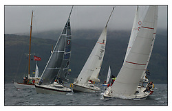 The second days racing at the Bell Lawrie Yachting Series in Tarbert Loch Fyne ...Strong winds, high seas and heavy rain dominated the day...National Impala  Class Start.