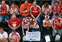 23-09-2019 NED: EC Volleyball 2019 Poland - Germany, Apeldoorn<br /> 1/4 final EC Volleyball - Poland win 3-0 / Poland support fan