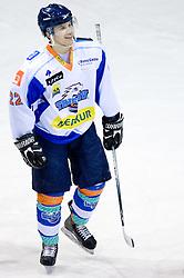 Metod Bevk of Triglav at SLOHOKEJ league ice hockey match between HK Slavija and HK Triglav Kranj, on February 3, 2010 in Arena Zalog, Ljubljana, Slovenia. Triglaw won 4:1. (Photo by Vid Ponikvar / Sportida)