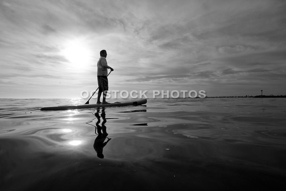 Paddling in the Calm Pacific Ocean at Newport Harbor