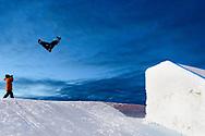 Mark McMorris during Men's Snowboard Slopestyle Practice at 2017 X Games Norway at Hafjell Alpinsenter in Øyer, Norway. ©Brett Wilhelm/ESPN