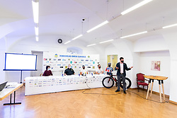 at press conference of charity event Dobrodelnost okoli Slovenije, on April 20, 2021 in Galerija Druzina, Ljubljana, Slovenia. Photo by Matic Klansek Velej / Sportida