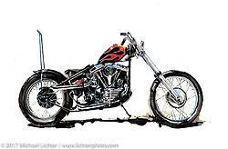 """Artwork for the 2017 Motorcycles as Art """"Old Iron - Young Blood"""" exhibition at the Buffalo Chip in Sturgis, SD provided by Cory Jarman. © Cory Jarman"""