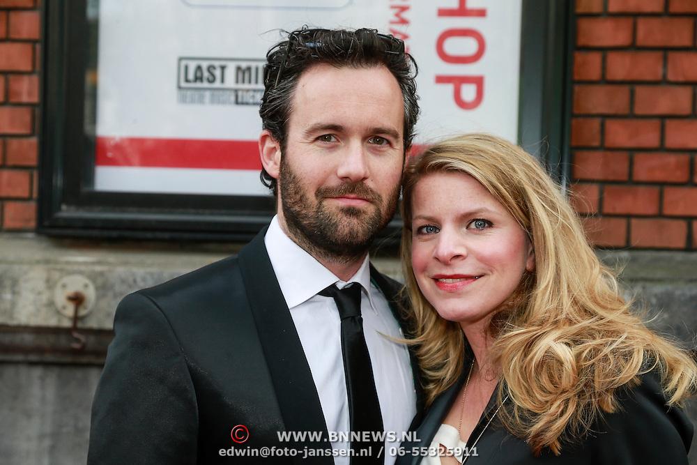 NLD/Amsterdam/20130424- Filmpremiere Boven is het Stil, Guy Clemens en partner Rosa Reuten