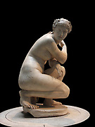 Statue of Nude Aphrodite known as 'Lely's Venus' is Second Century AD. It originally belonged to the painter 'Sir Peter Lely then acquired by King Charles 1. Influenced by the fourth century BC Greek Sculptor Praxiteles. The nudity symbolizes a turning point in the culture, as previously only male statues were nude. This is a typical Hellenistic style sculpture shown by the elaborate hairstyle and the rendering of the body.