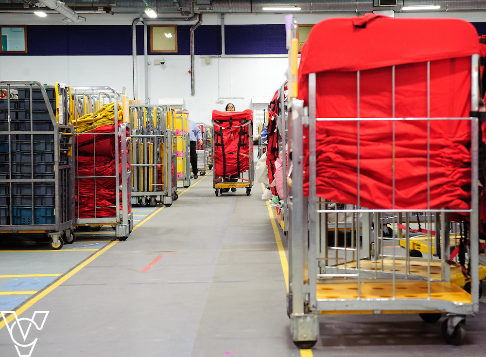 Generic stock images at Royal Mail's Nottingham Mail Centre.<br /> <br /> Date: January 26, 2016