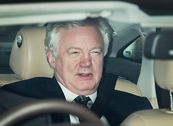 © Licensed to London News Pictures. 30/03/2017. London, UK. Brexit Secretary David Davis leaves Parliament after delivering a statement on the great repeal bill. Photo credit: Peter Macdiarmid/LNP