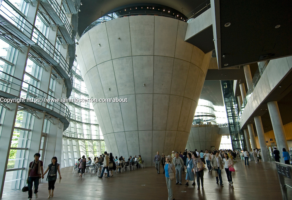 Interior view of spectacular new Tokyo National Art Center in Tokyo Japan 2007