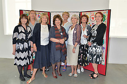 Left to right, ROSIE BARTLETT, TIGGY KENNEDY, PATRICIA HIGHAM, LADY ASHCOMBE, MELANIE METCALFE, LADY ANNE LAMBTON, JANE ORMSBY GORE and CAMILLA LOWTHERE at a lunch in aid of the charity African Solutions to African Problems (ASAP) held at the Louise T Blouin Foundation, 3 Olaf Street, London W11 on 21st May 2014.