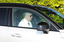 Manchester United manager Ole Gunnar Solskjaer is seen arriving at the Manchester United training ground on May 13, 2019.