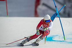 18-02-2018 KOR: Olympic Games day 9, Pyeongchang<br /> Alpine Skiing Men's Giant Slalom at Yongpyong Alpine Centre / Gino Caviezel of Switzerland