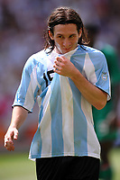 Lionel Messi Argentina during the Olympic Games final. Argentina beats Nigeria 1-0 and won the gold medal <br /> National Indoor - Bird Nest - Football - Calcio<br /> Pechino - Beijing 23/8/2008 Olimpiadi 2008 Olympic Games<br /> Foto Andrea Staccioli Insidefoto