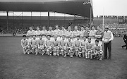 All Ireland Senior Football Championship Final, Dublin v Galway, 22.09.1963, 09.23.1963, 22nd September 1963, Dublin 1-9 Galway 0-10,.the victorious Dublin Team..Names of identified team members .Back Row Left to right  John (sean) Timmons, W Casey, M Kissane, L. Foley, L Hickey, (10th from left ) P Flynn..Front Row Left to right.D McKane, M Whelan, P Holden, N Fox, D Foley (captain), G Davey, B Mac Donald, S Behan, (10th from left) D Ferguson,..Unidentified  team members.Substitutes: F McPhillips, C Kane, P Downey, A Donnelly and E Breslin..
