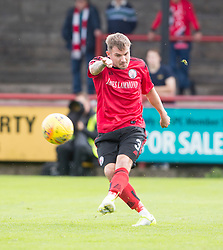 Brechin City's William Dyer. Brechin City 0 v 4 Inverness Caledonian Thistle, Scottish Championship game played 26/8/2017 at Brechin City's home ground Glebe Park.