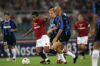Roma 3/10/2004 Campionato Italiano Serie A <br /> <br /> 5a giornata - Matchday 5 <br /> <br /> Roma Inter 3-3 AS Roma Amantino Mancini (L) and FC Inter Esteban Matias Cambiasso (C) and Juan Sebastian Veron (R). Foto Andrea Staccioli Graffiti