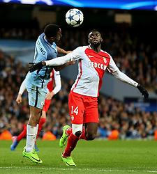 Tiemoue Bakayoko of Monaco challenges Raheem Sterling of Manchester City - Mandatory by-line: Matt McNulty/JMP - 21/02/2017 - FOOTBALL - Etihad Stadium - Manchester, England - Manchester City v AS Monaco - UEFA Champions League - Round of 16 First Leg