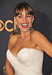 Sofia Vergara at the 69th Annual Emmy Awards held at the Microsoft Theater on September 17, 2017 in Los Angeles, CA, USA (Photo by Sthanlee B. Mirador/Sipa USA)