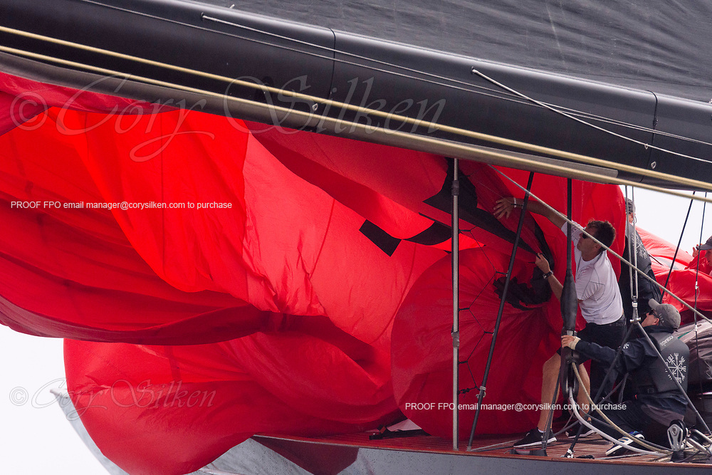 Svea sailing in the J Class World Championship, day one.