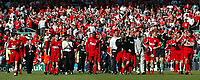 Photo. Andrew Unwin, Digitalsport<br /> NORWAY ONLY<br /> <br /> Liverpool v Newcastle United, FA Barclaycard Premier League, Anfield, Liverpool 15/05/2004.<br /> The Liverpool team take a lap of honour at the end of the game.
