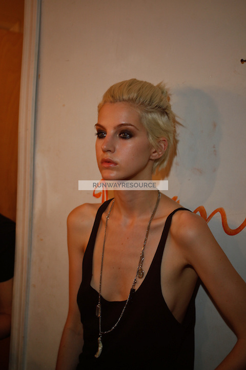 Backstage at the Erro Spring 2010 show in New York, NY on September 9, 2009