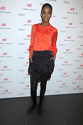 Model JOURDAN DUNN at a preview of the H&M Comme des Garcons collection held at H&M Regent Stret, London on 12th November 2008.