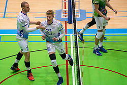 Dennis Borst of Lycurgus, Bennie Tuinstra of Lycurgus in action during the league match between Active Living Orion vs. Amysoft Lycurgus on March 20, 2021 in Doetinchem.