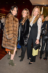 Left to right, JULIE BRANGSTRUP, SOPHIE STANBURY and EMILY CROMPTON-CANDY at a ladies lunch in aid of the charity Child Bereavement UK held at The Bulgari Hotel, 171 Knightsbridge, London on 25th February 2016.