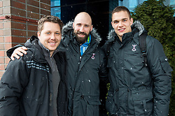 Vid Ponikvar, Vid Kavticnik and Vid Poteko at departure of Team Slovenia on Day 7 of Men's EHF EURO 2016, on January 21, 2016 in Mercure Hotel Wroclaw, Poland. Photo by Vid Ponikvar / Sportida