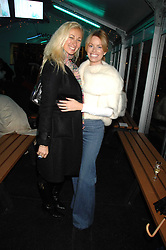 Left to right, JENNY HALPERN-PRINCE and CAROLINE HABIB at a Winter Party to celebrate the opening of the Ice Rink at Somerset House, London in association with jewellers Tiffany on 20th November 2007.<br /><br />NON EXCLUSIVE - WORLD RIGHTS
