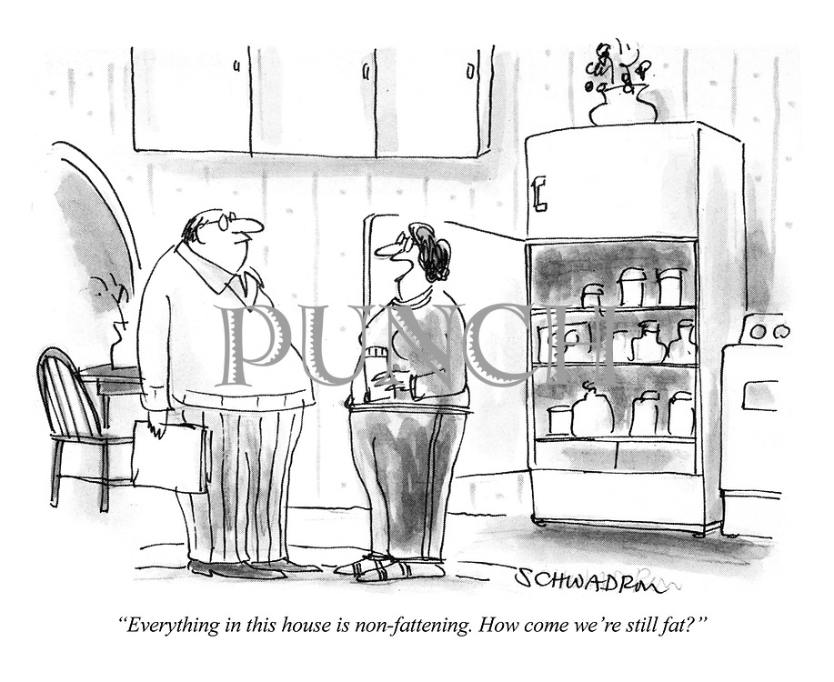 """""""Everything in this house is non-fattening. How come we're fat?"""""""