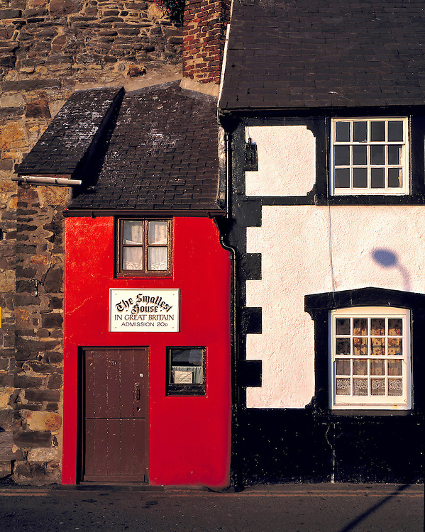 """The """"smallest house in Great Britain"""" stand near the harbor in Conwy, Gwynedd Co., Wales."""
