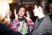 NENEH CHERRY, Party after the opening of  A Memory, A Monologue, A Rant, and A Prayer  at Century Club.  Restless Buddha's fundraising event helping women around the world. All proceeds raised from the sale of tickets go to Women for Women International, V-Day and Domestic Violence Intervention Project. 26 March 2012