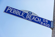 Pebble Beach Dr Street Sign in Buena Park