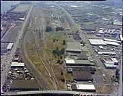 "Ackroyd C04372-1 ""Portland Terminal Railroad. Aerial. Willbridge. July 21, 1977"" (Gunderson on left)"