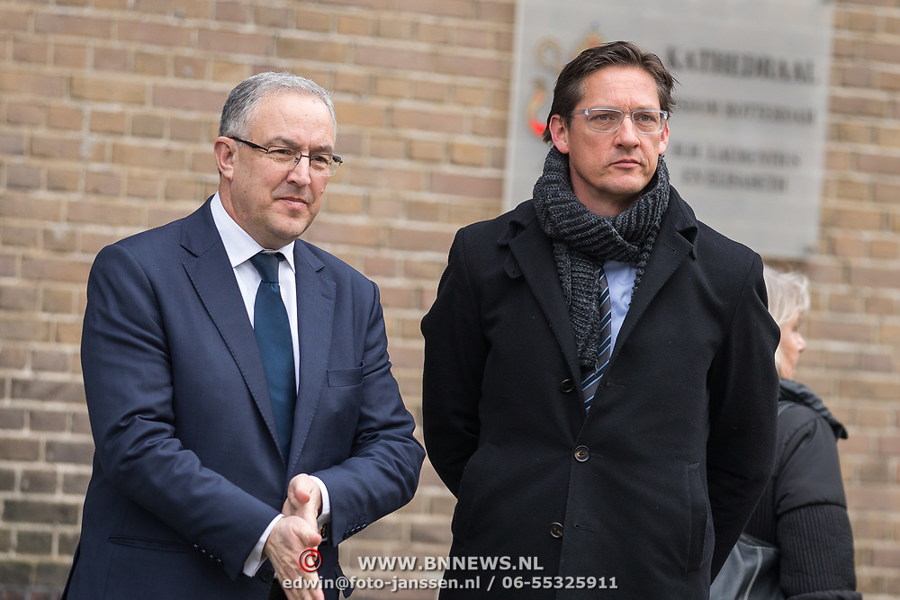 NLD/Rotterdam/20180220 - Herdenkingsdienst Ruud Lubbers, Achmed Aboutaleb en Joost Eerdmans