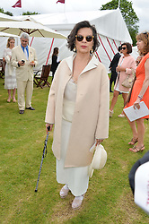 BIANCA JAGGER at the Cartier Queen's Cup Final polo held at Guards Polo Club, Smith's Lawn, Windsor Great Park, Egham, Surrey on 15th June 2014.