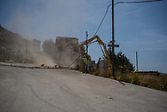 The first house demolished after the earthquake. I took almost an year to decide the logistic and the transport of the rumbles.